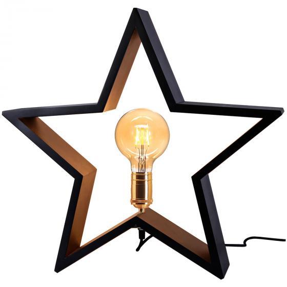 Star Holzstern Lysekil, 48x50x10 cm, Holz, schwarz | #2