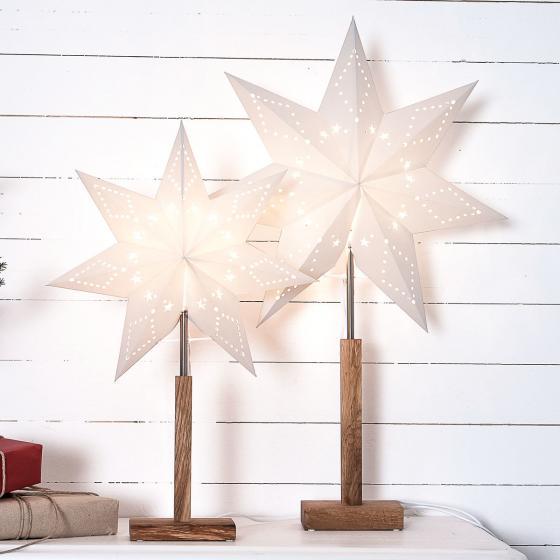 Standleuchte Winter Starlight, 55x34x34 cm, Holz und Papier, beige | #2