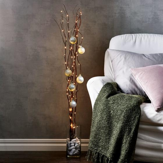 Star LED-Weidendeko, 115x10x10 cm, Holz, braun | #2