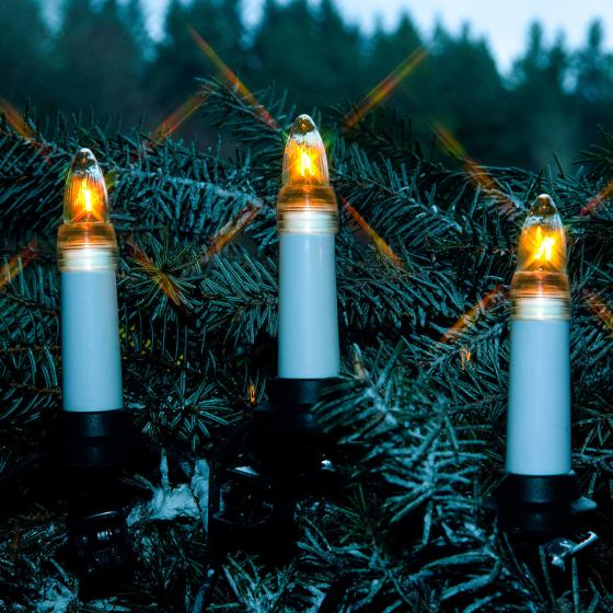 LED-Lichterkette Baumkerzen 25tlg. für Außen, 16,8 m, Kunststoff, weiß | #2