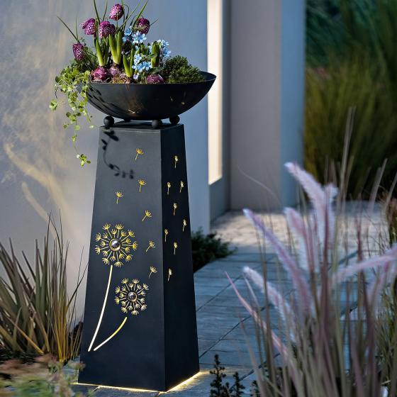 Pflanzsäule Pusteblume, mit LED-Beleuchtung & Timer, 70 cm, Ø 34 cm, anthrazit | #2