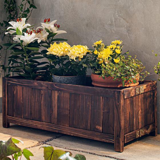 Pflanzbeet/Kasten, 70x30x25 cm, Holz, braun | #2