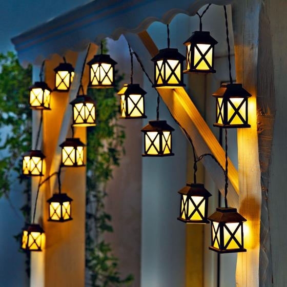LED-Lichterkette Laterna, 15 Laternen, 280 cm, Zuleistung 5 m, Kunststoff | #2