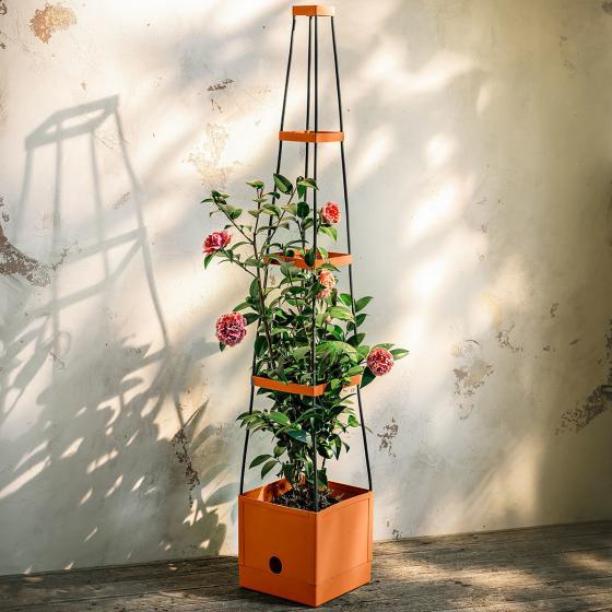 Tomaten-Tower, mit eckiger Rankhilfe, 25x25x127 cm | #2