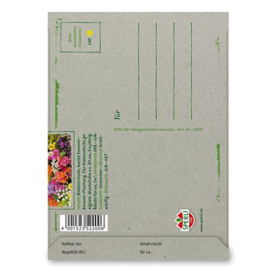 Saatgut Postkarte zum Verschicken - Schnittblumenmischung | #2