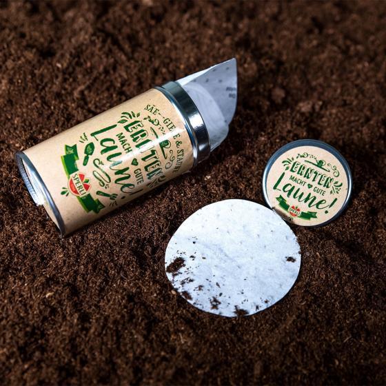 Saatscheiben in einer Aufbewahrungsdose - Kräutermischung | #2