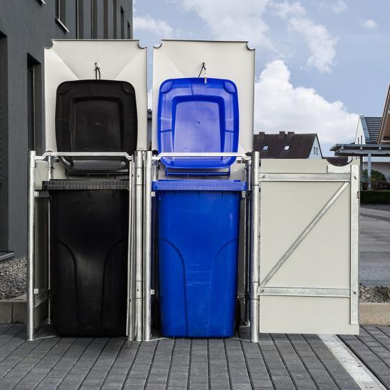Mülltonnenbox 140l Kunststoff, 2er Box, schwarz | #2