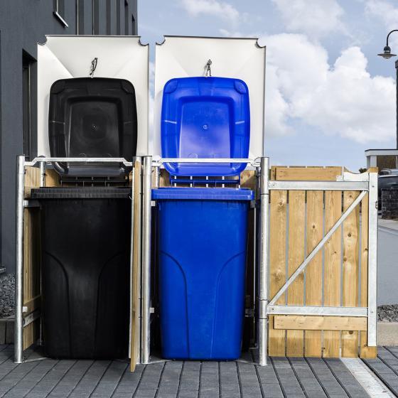 Mülltonnenbox 140l Holz, 2er Box, Natur | #2