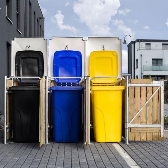 Mülltonnenbox 240l Holz, 3er Box, Natur | #2