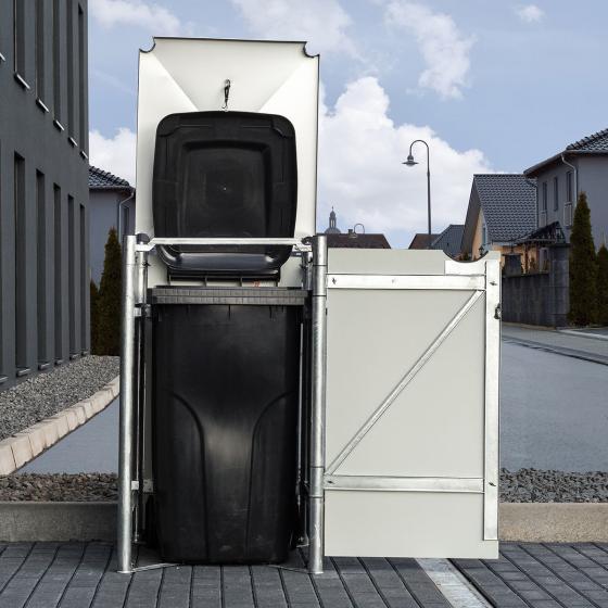 Mülltonnenbox 240l Kunststoff, 1er Box, grau | #2