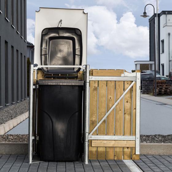 Mülltonnenbox 140l Holz, 1er Box, Natur | #2