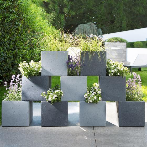 Pflanzkübel Cube, 38x38x33 cm, Stony Black | #2