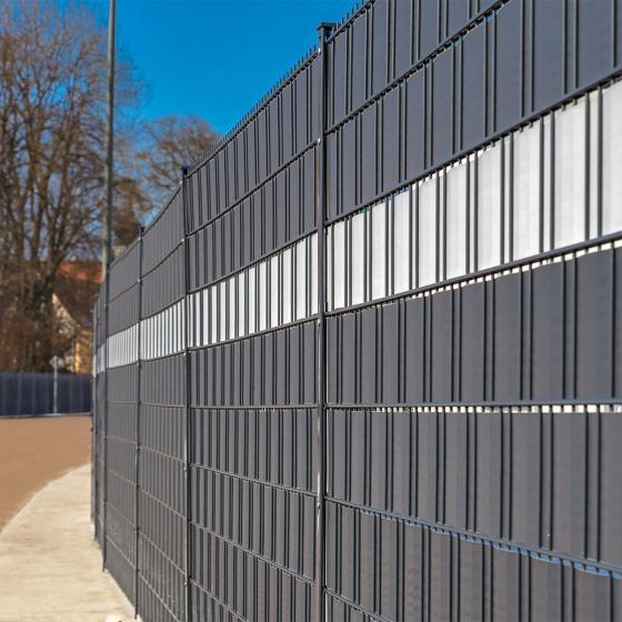 PVC Sichtschutz Zaunfolie dunkelgrau | #2