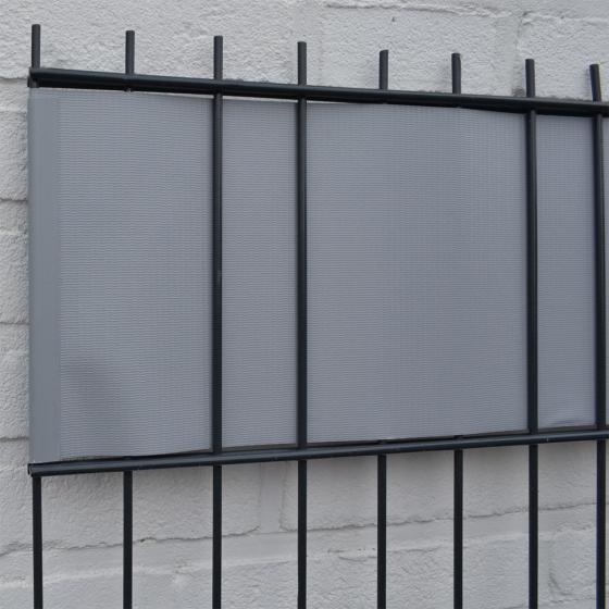 PVC Sichtschutz Zaunfolie hellgrau | #2