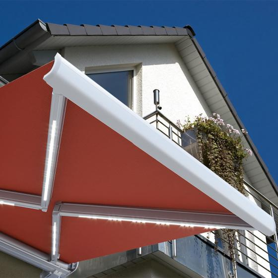 Vollelektrische Kassettenmarkise Elos V2 terrakotta 350 x 250 cm inkl. Windsensor | #2