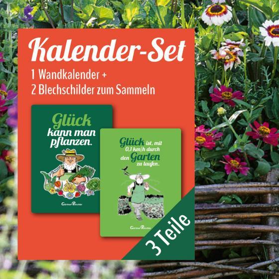 Gartenkalender mit 2 Blechschildern | #2