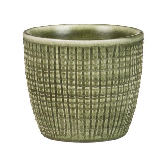 3er-Set Keramik-Übertöpfe 6cm, Grün | #2