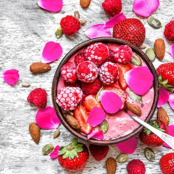 Essbare Culinaric Rose, pink, im ca. 22 cm-Topf | #2