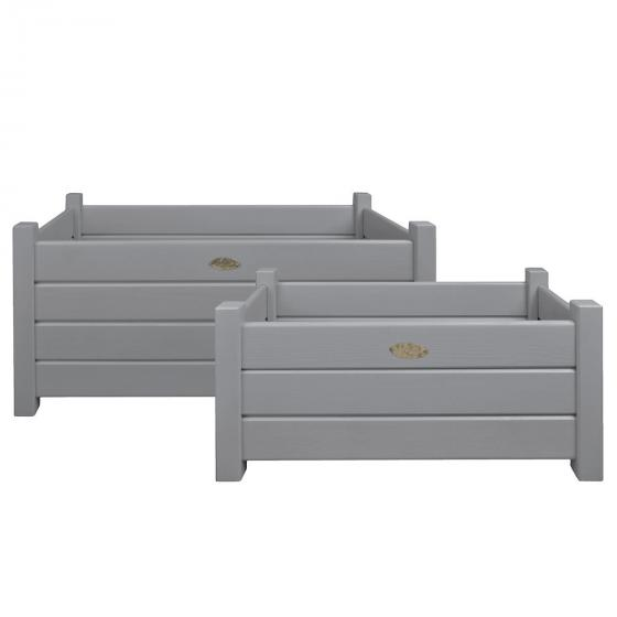 Pflanzkasten Stilvoll, 2er-Set, grau, 30x30 und 40x40 cm | #2