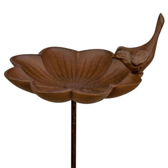 Vogeltränke Blütenkelch, mit Erdspieß, Gusseisen, ca. 90 cm | #2