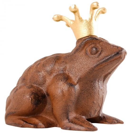 Gartenfigur Froschkönig, Gußeisen, ca. 13 cm | #2