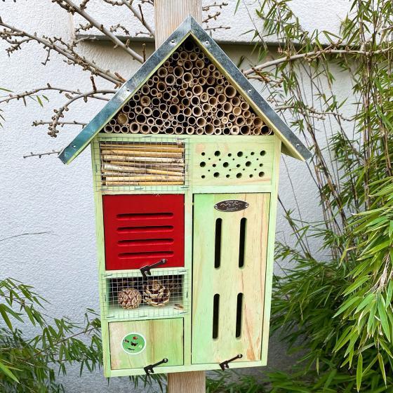 Insektenhotel Nature mit Zinkdach, ca. 48x 31 cm   #2