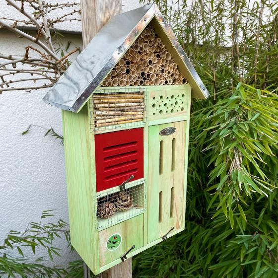Insektenhotel Nature mit Zinkdach, ca. 48x 31 cm | #2