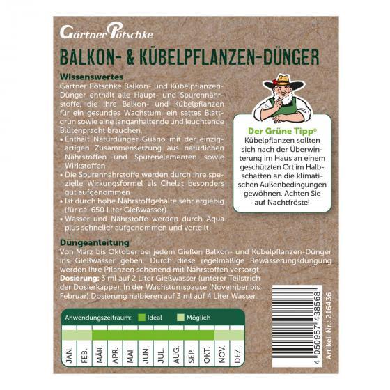 Balkon- und Kübelpflanzen-Dünger flüssig, 1 l   #2