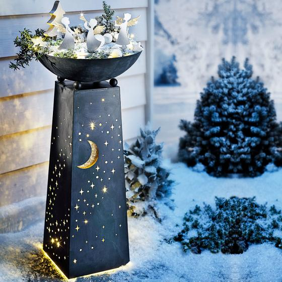 Pflanzsäule Sternenhimmel mit LED-Beleuchtung | #2