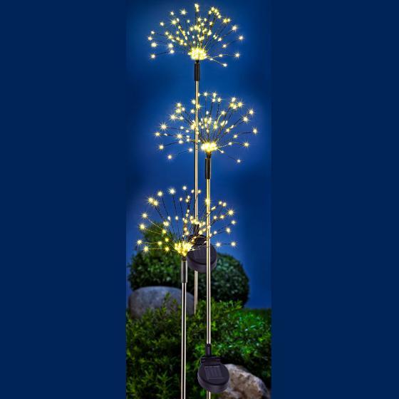 "Solar-Gartenstecker ""Twinkle"", 3er-Set   #2"