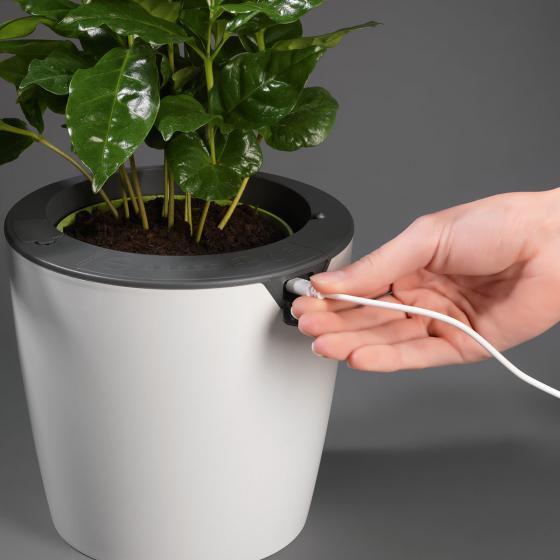 Übertopf mit Selbstbewässerungssystem, Klein, 17 cm | #2
