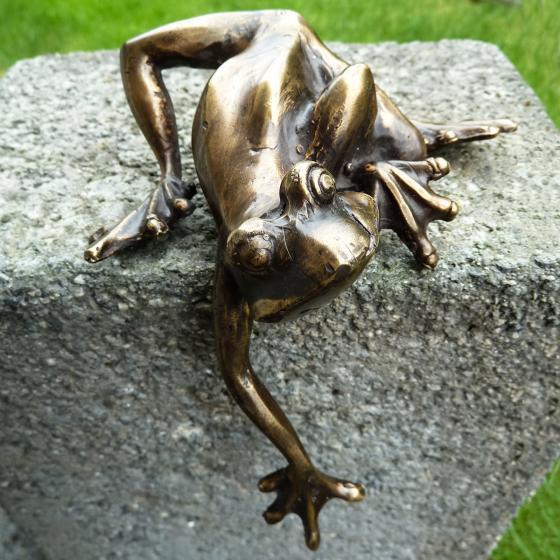 Bronze-Figur Frosch-Kantenkletterer | #2