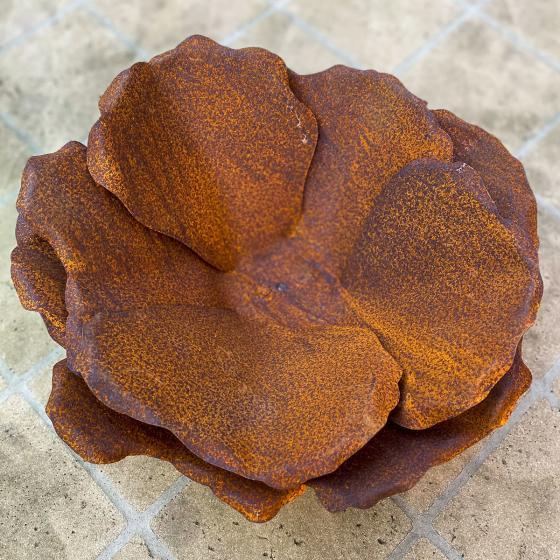 Blume Blütenzauber, Edelrost, ca. 11 cm | #2