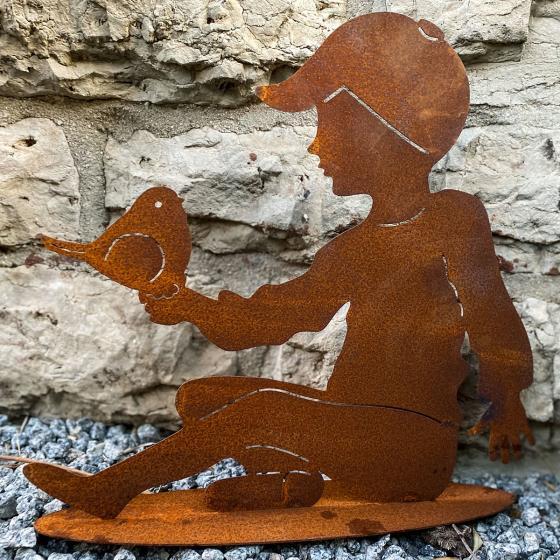 Gartenfigur Noah, Edelrost | #2