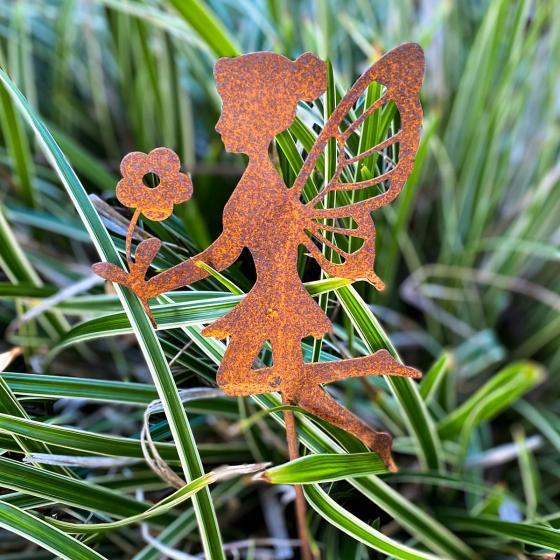 Gartenstecker Fee Luna, Edelrost, 58 cm | #2