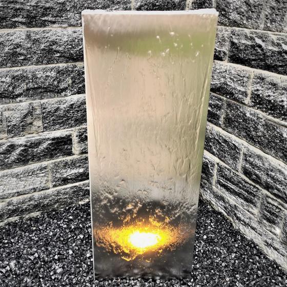 Wasserwand Husum klein Edelstahl matt, mit Zubehör, 180x50x6cm | #2