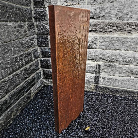 Wasserwand Husum klein Cortenstahl matt, mit Zubehör, 130x45x6cm | #2