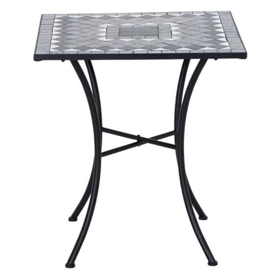 Tisch Mosaik, Stahlgestell mit Keramikfläche, ca. 60 x 60 x 69,5 cm | #2