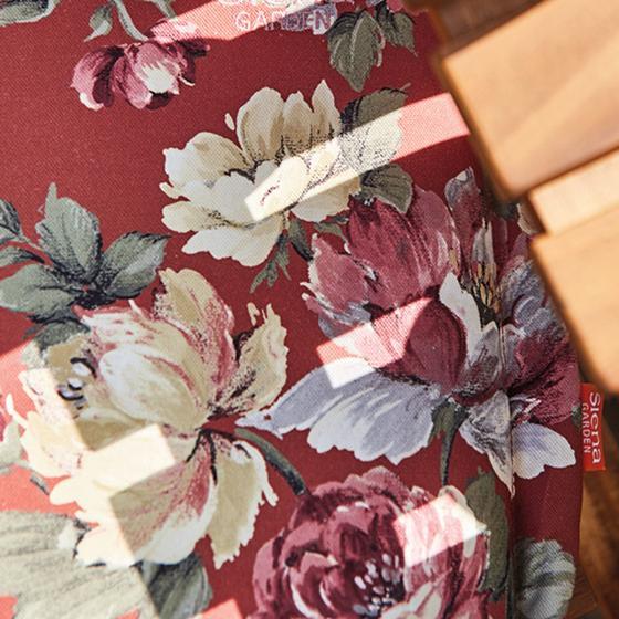 Sitzkissen-Auflage Lissa, Blume-terrakotta | #2