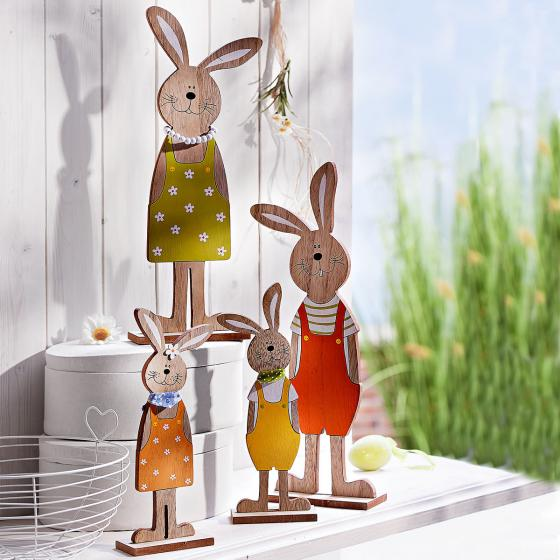 Dekofiguren Set Hasenfamilie, 4-teilig | #2
