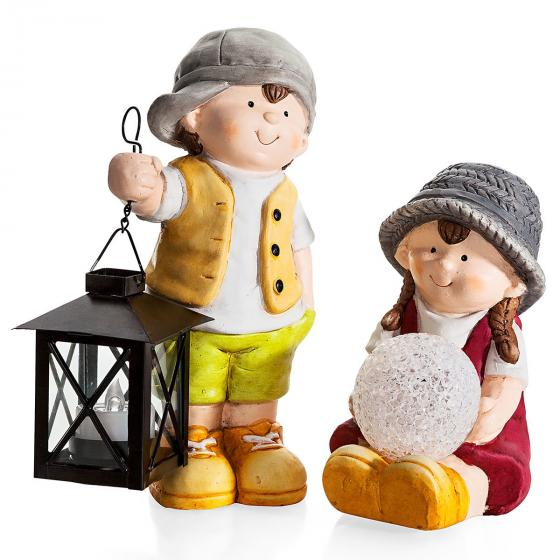 Gartenfiguren Set, LED, 2-teilig | #2