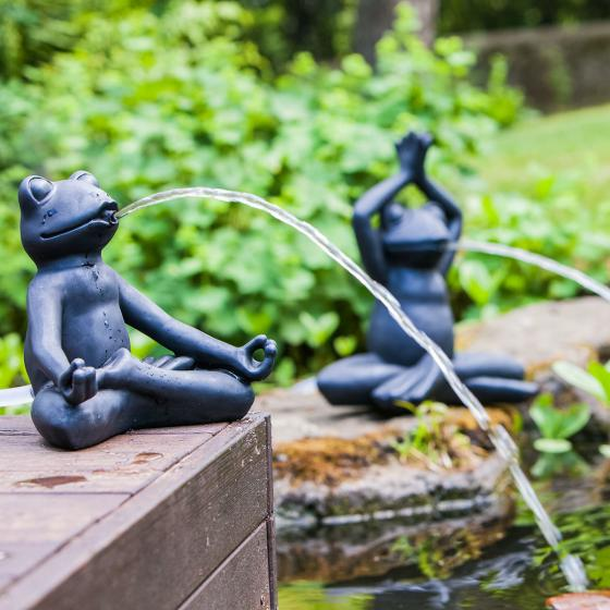 Wasserspiel Yoga-Frosch, 25x18x23cm   #2