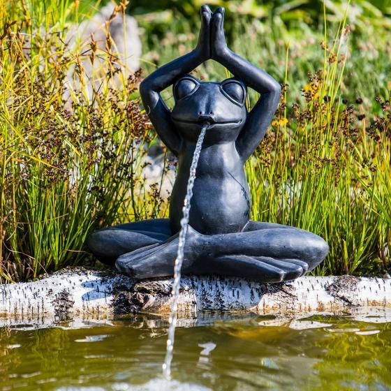 Wasserspiel Yoga-Frosch, 38x21x40cm | #2