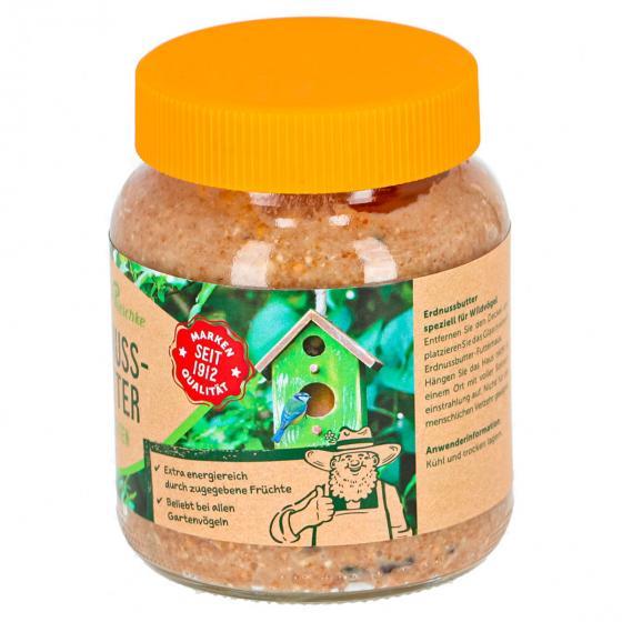 Erdnussbutter mit Früchten für Wildvögel, im Glas, 340 g | #2