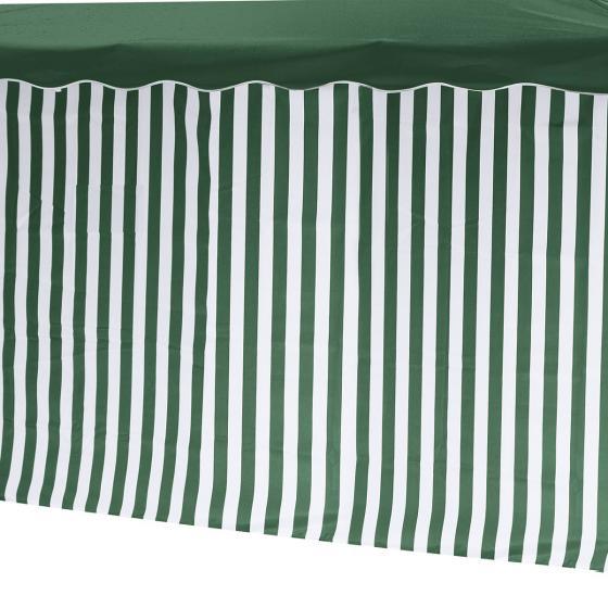 2 Seitenteile für Faltpavillon Classic, mit und ohne Fenster, grün/weiß | #2