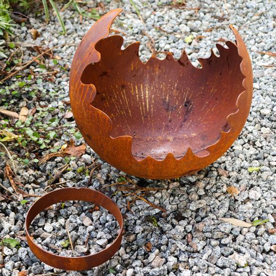 Feuerkugel Etna, Edelrost 30 cm | #2