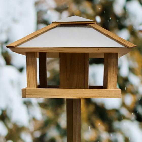 Vogelfutterhaus Henry mit Futtersilo, Stahldach | #2