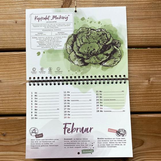 Einpflanzbarer Kalender - Historisches Saatgut   #2