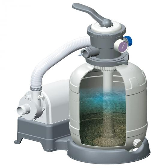 Sandfilteranlage, Pumpleistung 5110L/h, grau   #2