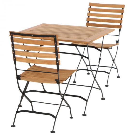 Gartenmöbel-Set Peru mit 2 Klappstühlen und Klapptisch, 80x80 cm | #2